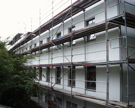 Vollwärmeschutz, Bauvorhaben Kinderklink Winterberg